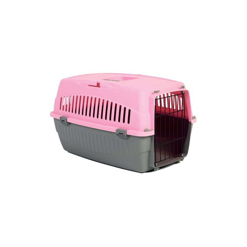 Cage transporteur 1 porte rose