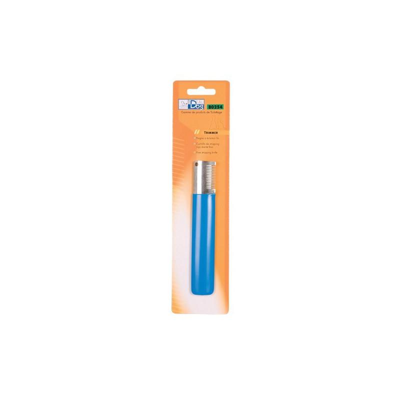 Trimmer IdealDog Droitier Moyen 14 Dents Bleu