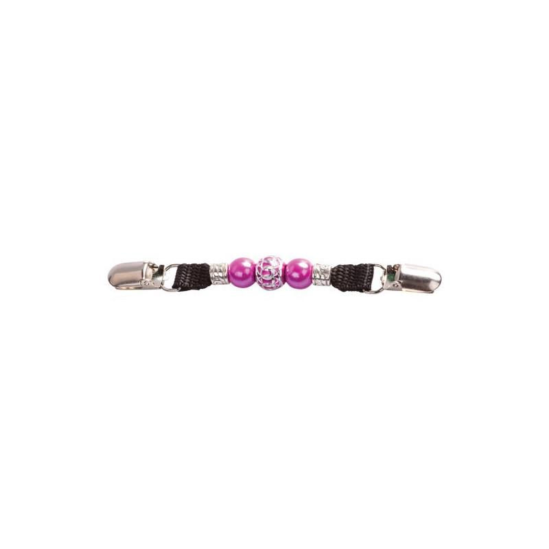 Pince dossard à perles Fuchsia 15x5