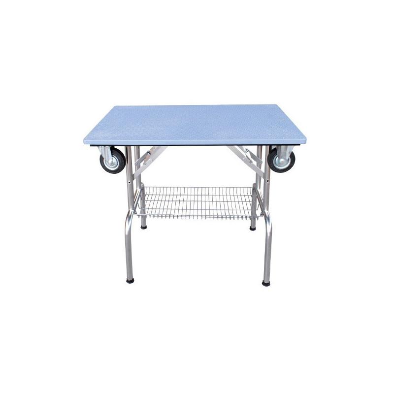 Table Pliante A Plateau Antiderapant Avec Roulettes Pm