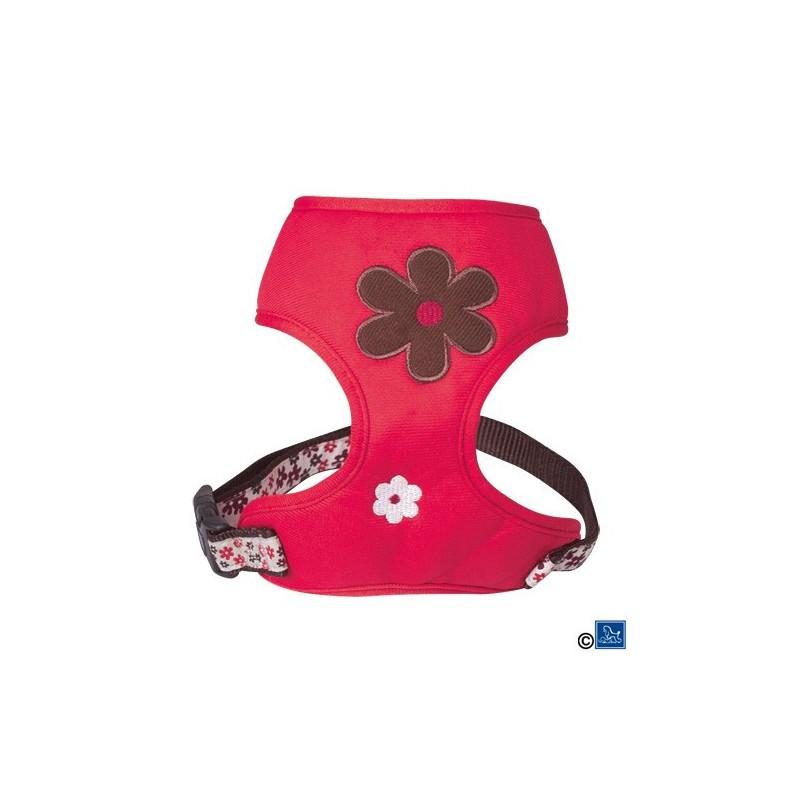 Harnais tee-shirt flower rouge
