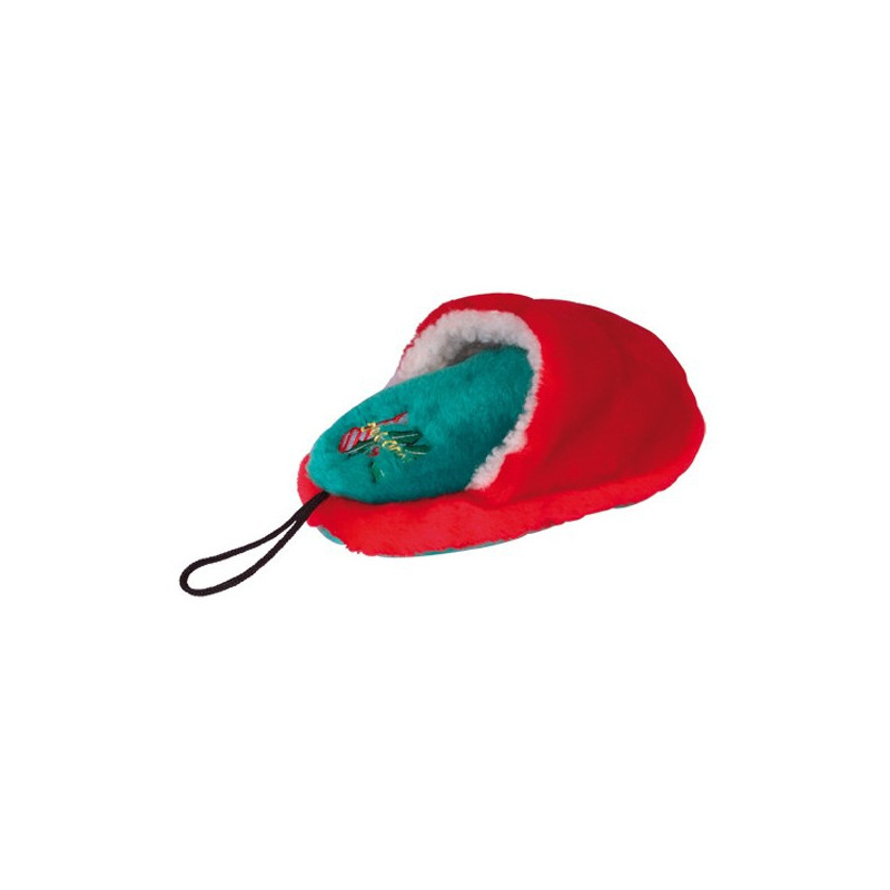 Peluche chausson sonore rouge